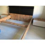 Кровать ARVO М1 160*200 Хелми цвет дуб вотан/теос блэк
