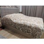 Кровать АСМ-Модуль К1 Квадро 160*200 с подъемным механизмом цвет дуб сонома/микророгожка