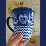 Кружка Арти М 153-814 350 мл (3 варианта) 12,5*9*10,5 см цвет синий