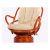 Кресло из натурального ротанга Винотти вращающееся с подушкой 05/01 коньяк