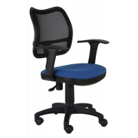 Кресло компьютерное Бюрократ CH-797AXSN чёрный/синий