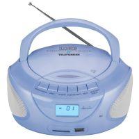 Магнитола Telefunken  TF-CSRP3490B синий
