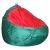 Пуф Комфорт-S Груша-2 зеленый/красный